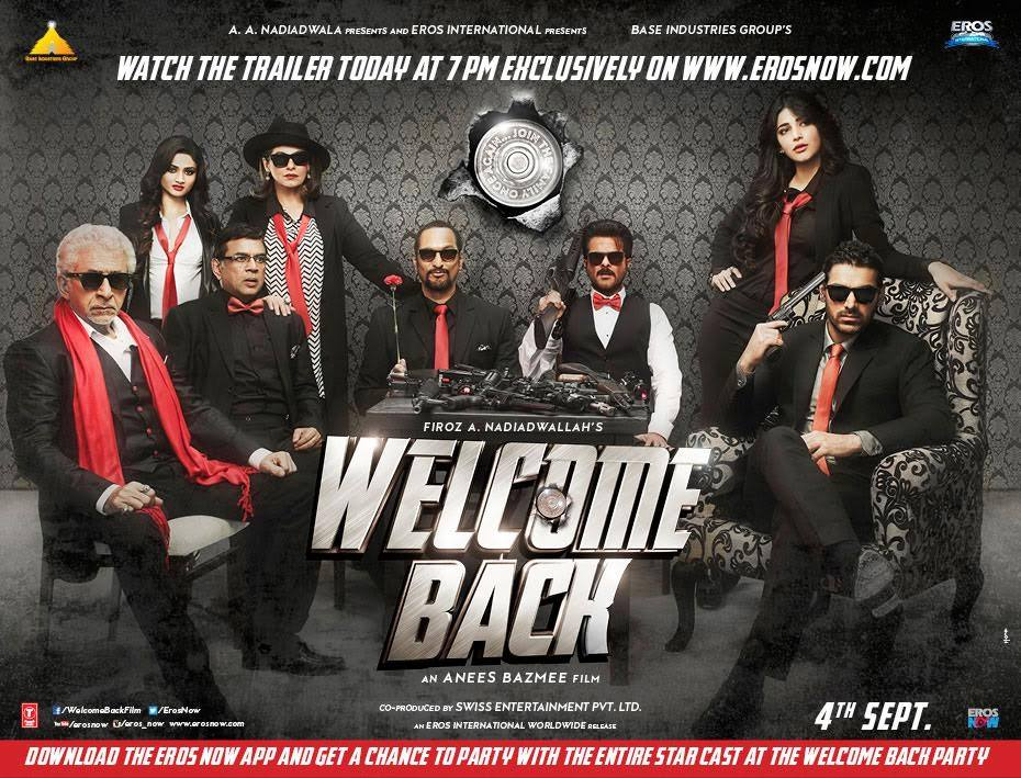 Welcome Back (2015) Hindi Movie Official Trailer 720p